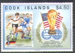 2866 Soccer Football FIFA WM Cup 1994 Cook Isl 1v Set MNH ** 9ME - World Cup