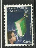 SELLO D´ANDORRA - TEMA EUROPA 2009 O SIMILLAR- CORREO ESPAÑOL  SIN FIJASELLOS - Andorra Española