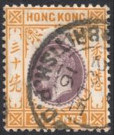 Hong Kong, 30 C. 1912, Sc # 118, M # 107, Used - Hong Kong (...-1997)