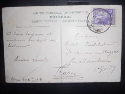 Portugal Carte De Porto 1913 Pour Le Gard - 1910 - ... Repubblica