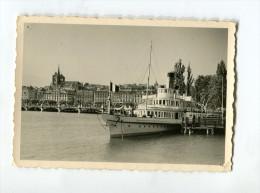 Bateau Port Genève Quai Mont Blanc 1950 53 Snapshot - Lugares