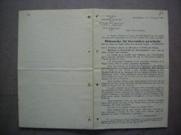 SAINT-QUENTIN LE 5 NOVEMBRE 1938 SOCIETE DES ANCIENS ELEVES DES ECOLES D'ART ET METIERS REUNION BANQUET SAUTERIE SOUPER - Programme