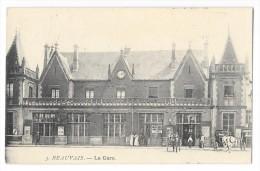 Cpa: 60 BEAUVAIS - La Gare (animée, Attelages) 1905 N° 3 - Beauvais
