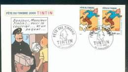 FRANCE FETE DU TIMBRE INGRANDES TINTIN BD 11/3/200 TB - Storia Postale