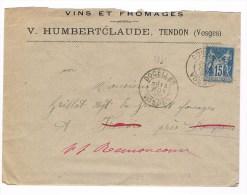 Lettre Avec Texte Sage T84 Docelles . Vosges. B - 1877-1920: Période Semi Moderne
