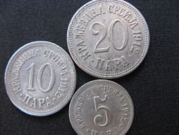 Coins Of The Kingdom Of Serbia -5,10,20 Para, 1912 Godina, XF - Serbie