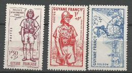 GUYANE  DEFENCE DE L'EMPIRE N� 169 � 171 NEUF*   CHARNIERE / MH