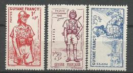 GUYANE  DEFENCE DE L�EMPIRE N� 169 � 171 NEUF** LUXE SANS  CHARNIERE / MNH