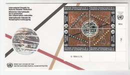 1981 UN Geneve FDC  PREVENT NATURAL DISASTER Stamps Cover Environment Map - Climate & Meteorology