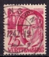 ALLIIERTE BES. FRANZ ZONE WÜRTTEMBERG Mi. Nr. 9 O (A-1-36) - Zone Française
