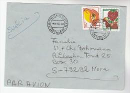 2000 Air Rmail BRAZIL COVER Stamps FRUIT STRAWBERRY Pmk ELDORADO SHOPPING CENTER Sao Paulo , Food - Fruits