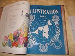 CLASSEUR DE 20 NUMEROS DE L'ILLUSTRATION DE 1948 -DE JUIN A OCTOBRE (DONT ALBUM SPECIAL SUR LE SALON DE L'AUTOMOBILE) - Journaux - Quotidiens