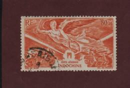 39 De 1946 - Oblitéré - INDOCHINE . AVIATION - Anniversaire De La Victoire - 80c. Brun-orange - Indochine (1889-1945)