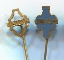 UNION - Vintage Pin, Badge, 2 Pieces - Pin's