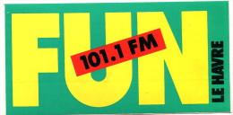 Autocollant FUN 101.1 FM Le Havre - Adesivi