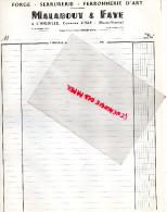 87 - L' AIGUILLE COMMUNE D' ISLE- FACTURE MALABOUT & FAYE- FORGE-SERRUERIE- FERRONNERIE D' ART-1960 - 1950 - ...
