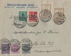 DR Ortsbrief Mif Minr.230,2x 262,268,273,278,280 Halle/S. 31.8.23 - Deutschland