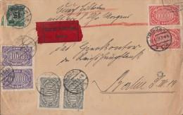 DR Brief Eilbote Mif Minr.2x 252,2x 255,2x 257,279 Gießen 15.9.23 - Briefe U. Dokumente