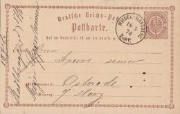 DR Ganzsache K1 Nieder-Marsberg 18.5.74 - Deutschland