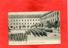 BREST  1910  MARINE MILITARIA AU DEPOT UNE INSPECTION    CIRC OUI EDIT - Brest