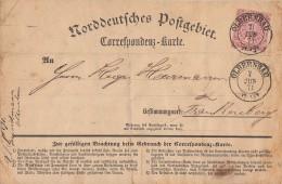 NDP Karte EF Minr.16 Nachv. Stempel K2 Olbernau 7.6.71 Gel. Nach Frankenberg - Norddeutscher Postbezirk