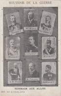 WO I   Hommage Aux Alliés   Souvenir De La Guerre             Nr  6711 - Weltkrieg 1914-18