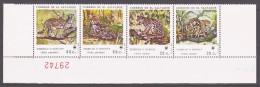 Salvador 1988 El Salvador Mi 1734-1737vs WWF. Worldwide Conservation: Small Cat / Kleinkatzen **/ MNH - W.W.F.