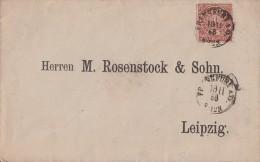 NDP Brief EF Minr.4 K1 Frankfurt A. O. 18.11.68 Gel. Nach Leipzig - Norddeutscher Postbezirk