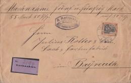 DR NN-Brief EF Minr.89I Berlin Gel. Nach Bayreuth - Germania