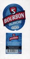 Etiquette Biere Bourbon Blanche - Bière