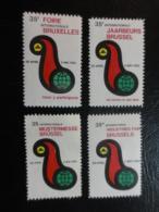 1962 Foire Bruxelles 4 Different Languages Vignette Poster Stamp Label Belgium - Erinnophilie - Reklamemarken
