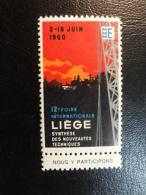 1960 Foire De LIEGE Vignette Poster Stamp Label Belgium