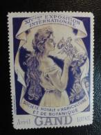 1898 GAND GENT Agriculture Et Botanique Fleurs Vignette Poster Stamp Label Belgium - Erinnophilie