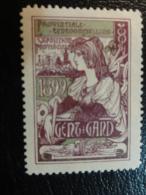 1899 GAND GENT Expo Vignette Poster Stamp Label Belgium - Erinnophilie - Reklamemarken