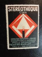 Stereotheque Bruxelles Materiaux D'office Vignette Poster Stamp Label Belgium - Commemorative Labels