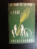 Le Pain De La Pax 1962 Vignette Poster Stamp Label Belgium - Erinnophilie - Reklamemarken