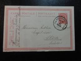 1925 SCHAERREE TO SRORDE SUEDE Postal Stationery Card Belgium - Stamped Stationery