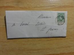1874 TOURNAI To FRASNES  Belgium - 1869-1883 Leopoldo II