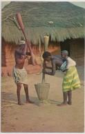 Postal Guiné Portuguesa - Bissau - Pilando Arroz - Femme Seins Nus - Topless Woman - Carte Postale - Postcard - Guinea Bissau