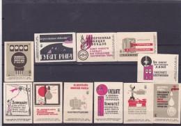 RUSSIA --- MATCHBOX LABELS -- 11x  Accident Hazard -- 1966 - Matchbox Labels