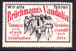 Posterstamp Brüchmanns Vandalia Fahrrad Bicycle Fiets Velo - Wielrennen