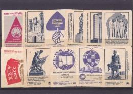 RUSSIA --- MATCHBOX LABELS -- 11x  ARHITECTURE -- 1970-71 - Zündholzschachteletiketten