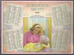 ALMANACH DES POSTES 1967 ( CALENDRIER ) NOTRE TRESOR - Calendriers