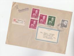 1966 REGISTERED SWEDEN  Multi ALMQVIST Stamps To Switzerland , Poet - Sweden