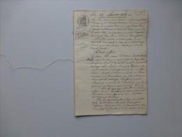 17 Marennes 1828 Procès Succession GENEALOGIE Elie Charron ; Testament ; Ref 580 VP 10 - Historical Documents