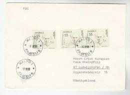 1969 Malmo SWEDEN COVER  Multi BO BERGMAN Stamps To Germany , Literature Fdc - Sweden