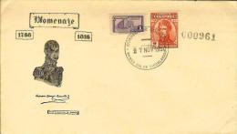 COLOMBIA 1950.11.27 [688-1] F.D.C.: 135 Años De La Muerte De Antonio Baraya - Colombia