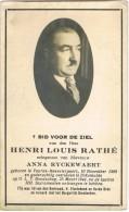VEURNE - BEWESTERPOORT - DIKSMUIDE , Doodsprentje Van Henri Louis RATHE + 1944 - Religion & Esotérisme