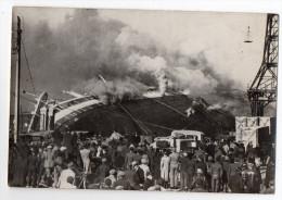 photographie - bateau - Le PARIS en flammes au HAVRE - 29 f�vrier - catastrophe maritime