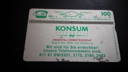 Austria-(p493)-konsum-(503l)-(100nits)-tirage-3.500+1card Prepiad Free - Austria
